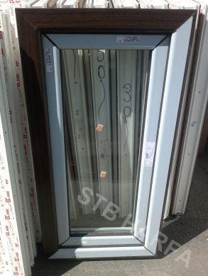 Modne ubrania Tmavý dub / Bílá | Plastová okna | Stavební bazar Harfa TS47